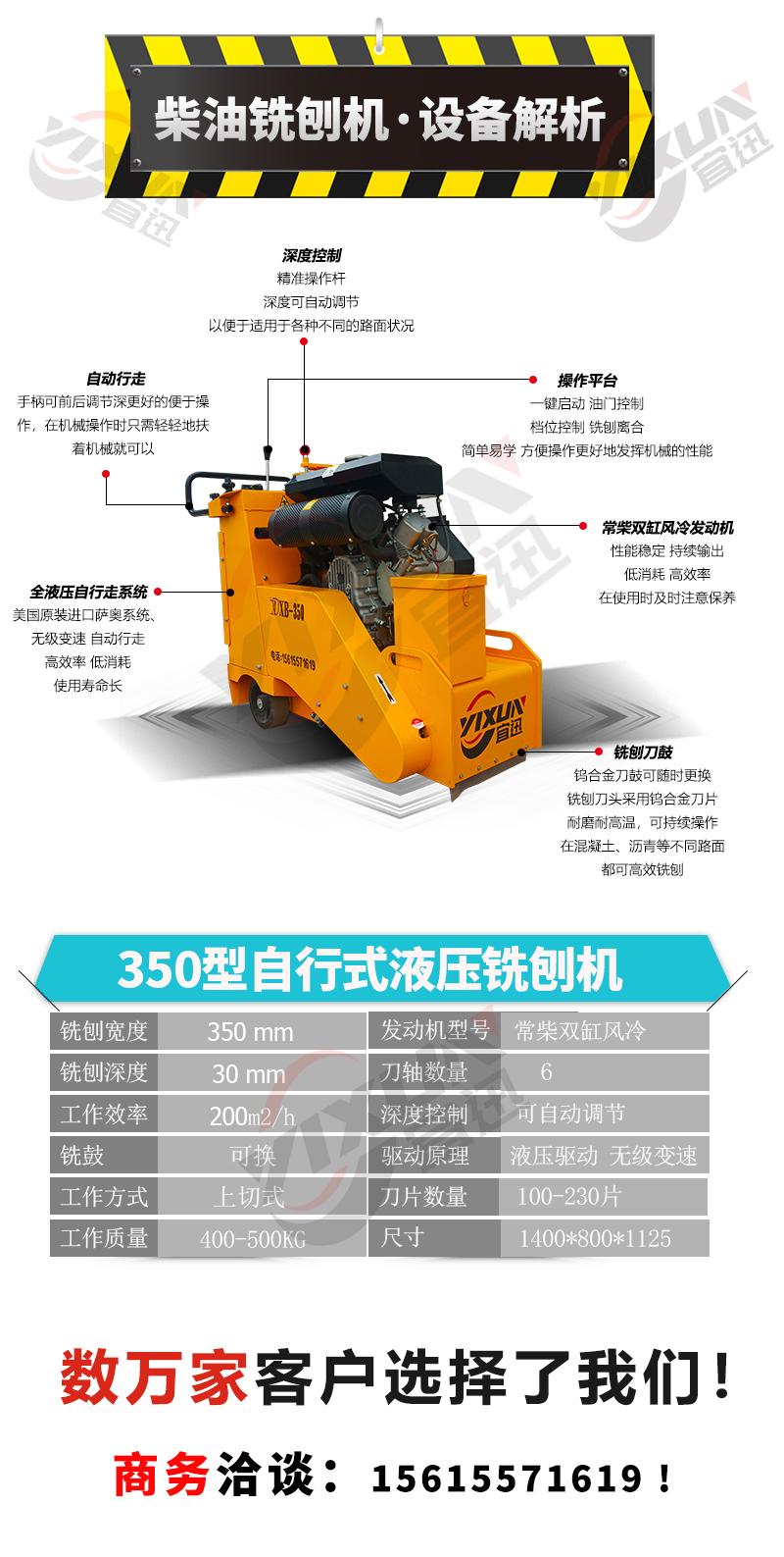 350柴油铣刨机参数解析